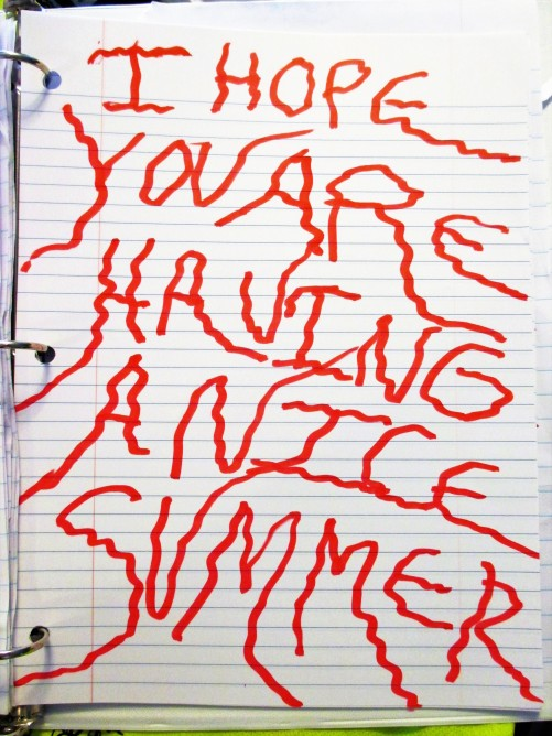 i hope you are having a nice summer written in the blood voice fixed