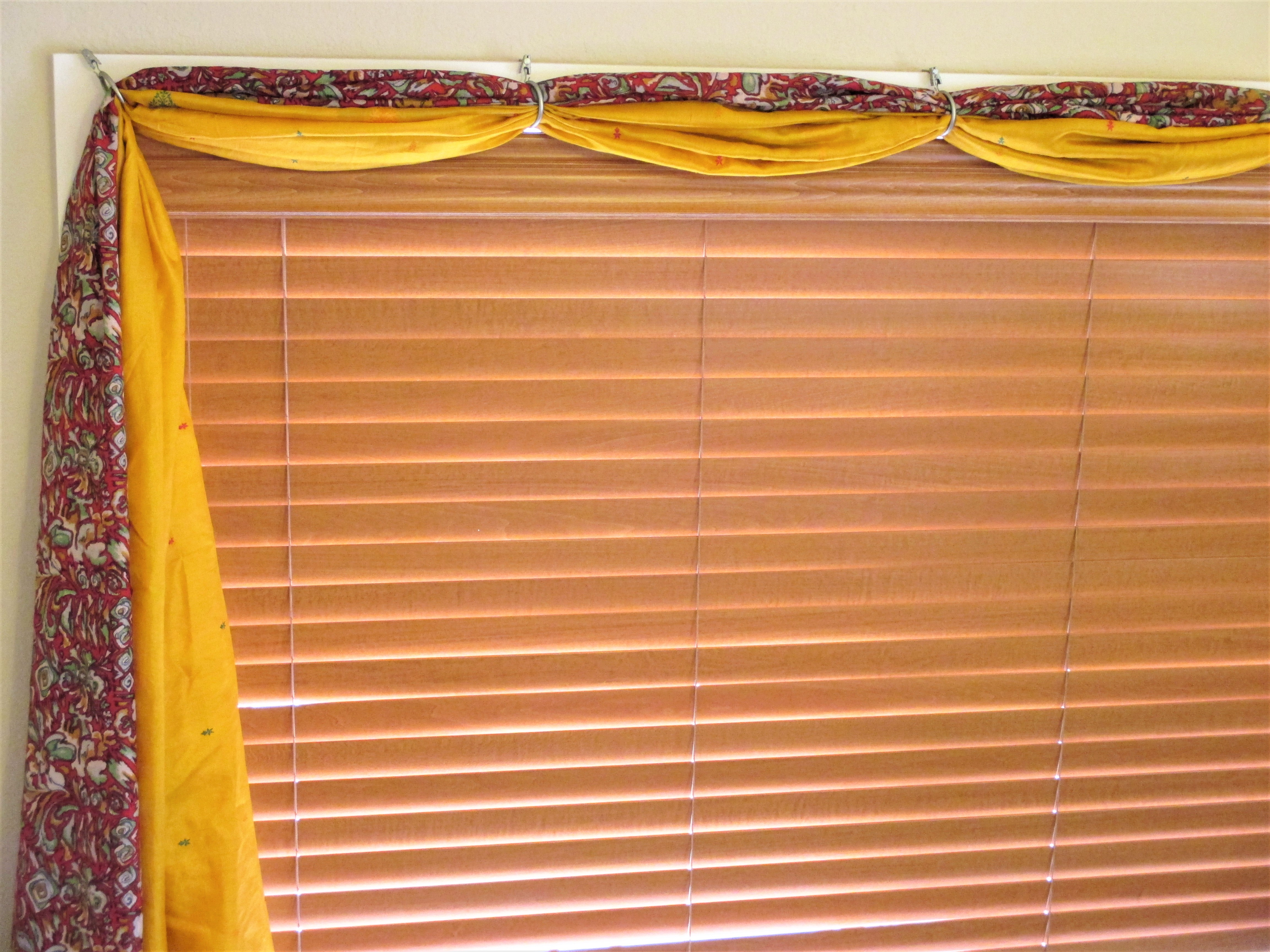 Draping Curtains Over A Rod